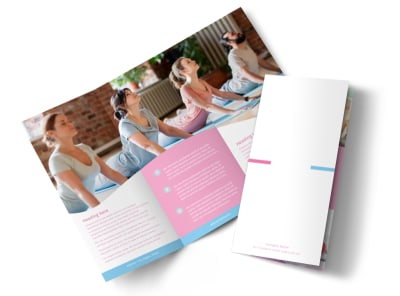 Core Yoga Tri-Fold Brochure Template preview
