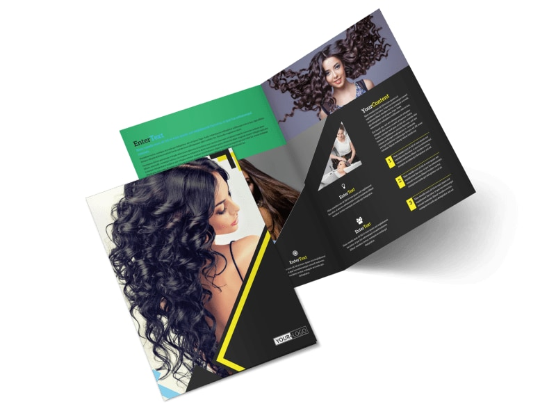 Hair Salon Studio Bi-Fold Brochure Template 2
