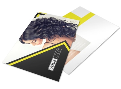 Hair Salon Studio Postcard Template 2