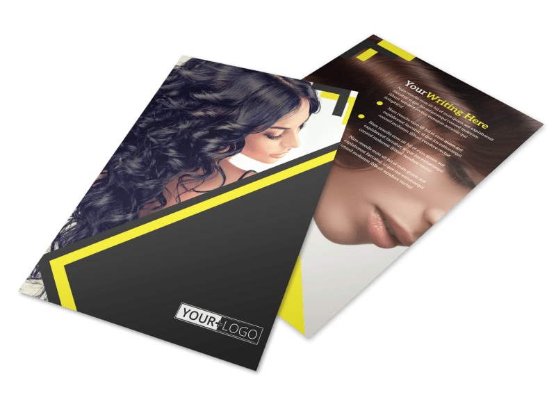 Hair Salon Studio Flyer Template 3