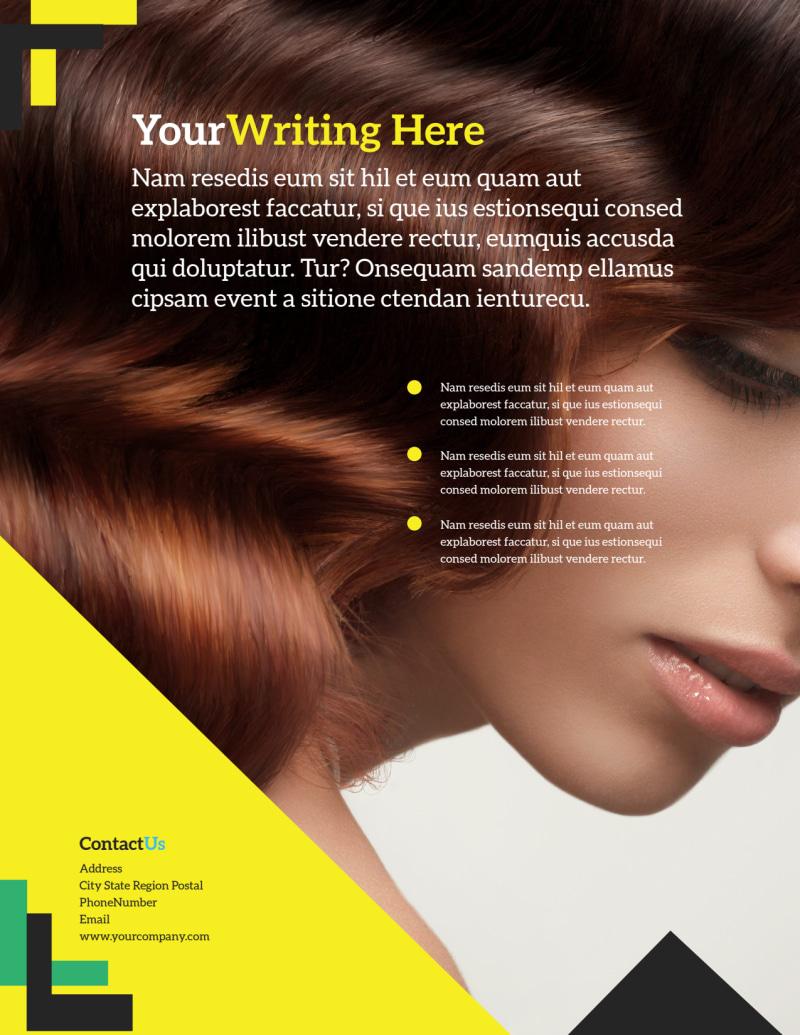 Hair Salon Studio Flyer Template Preview 3