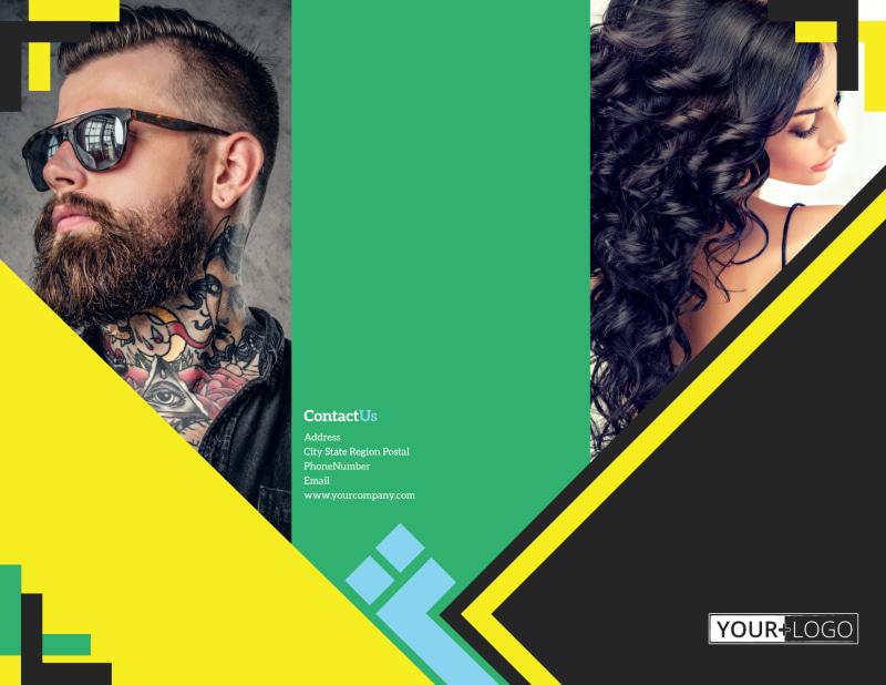 Hair Salon Studio Brochure Template Preview 2
