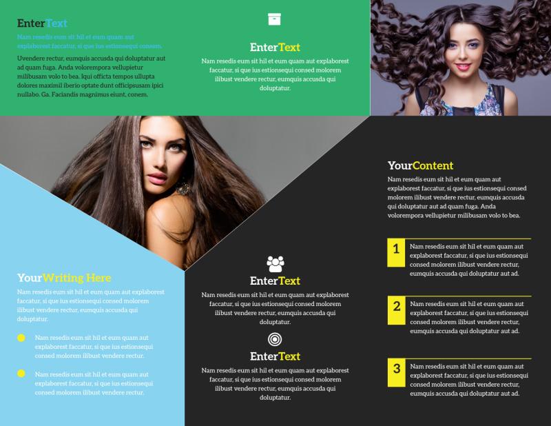 Hair Salon Studio Brochure Template Preview 3