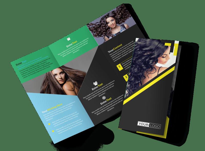 Hair Salon Studio Brochure Template Preview 1
