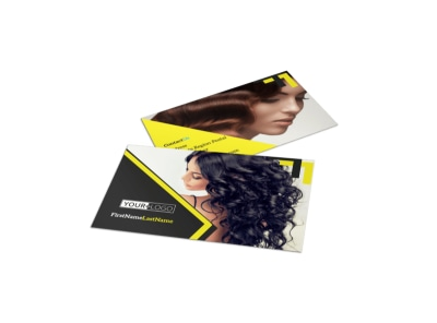 Hair Salon Studio Business Card Template preview