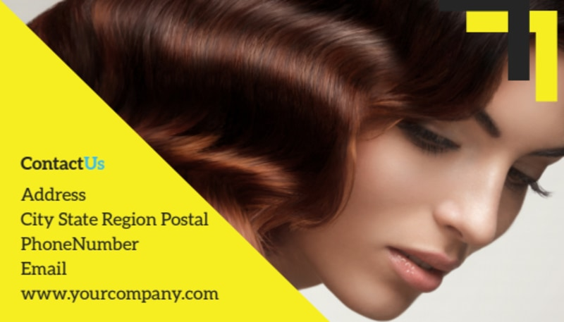 Hair Salon Studio Business Card Template Preview 3
