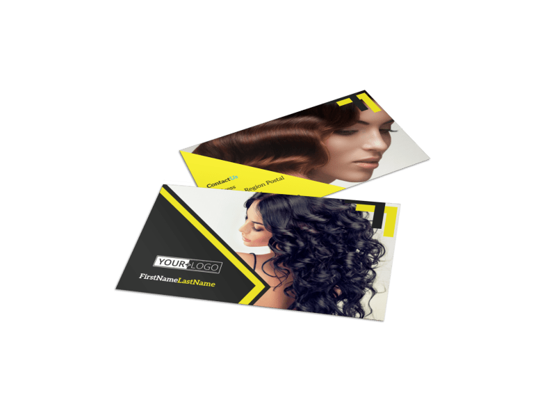 Hair Salon Studio Business Card Template Preview 1