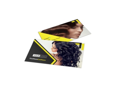Hair Salon Studio Business Card Template