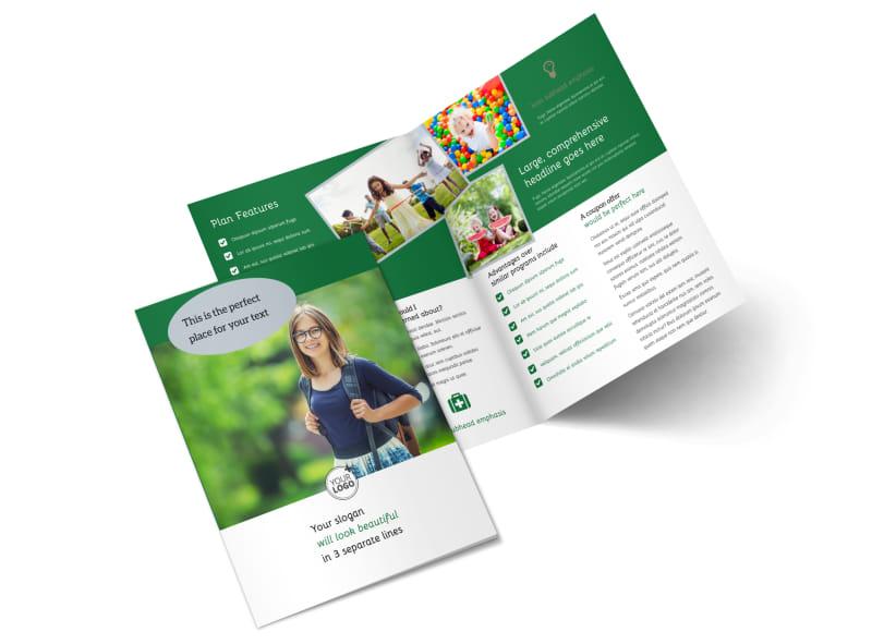 Kids Health Bi-Fold Brochure Template 2