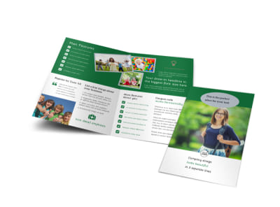 Kids Health Bi-Fold Brochure Template