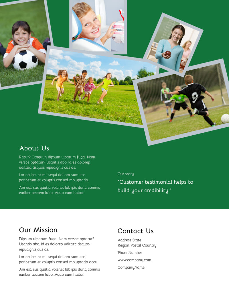 Kids Health Flyer Template Preview 3
