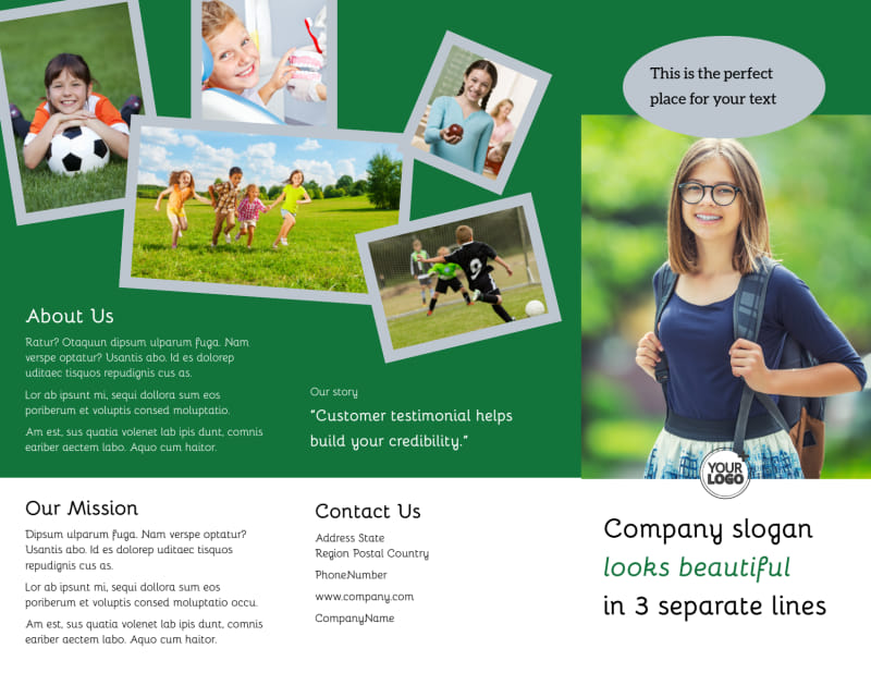 Kids Health Brochure Template Preview 2