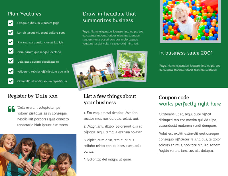 Kids Health Brochure Template Preview 3