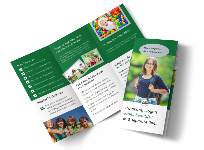 Kids Health Brochure Template Preview 1