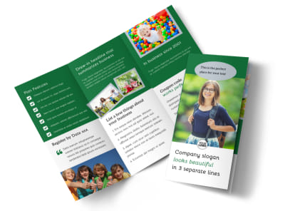 Kids Health Tri-Fold Brochure Template