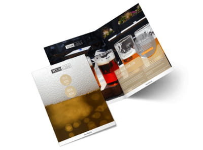 Downtown Brewery Bi-Fold Brochure Template 2