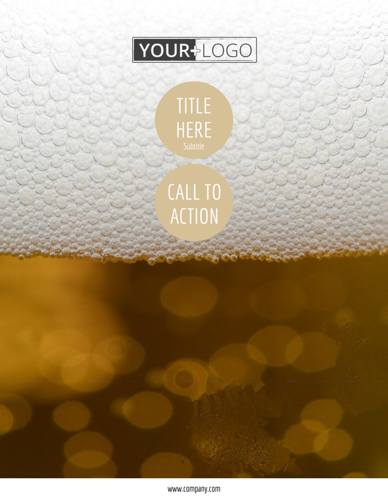 Downtown Brewery Flyer Template Preview 2