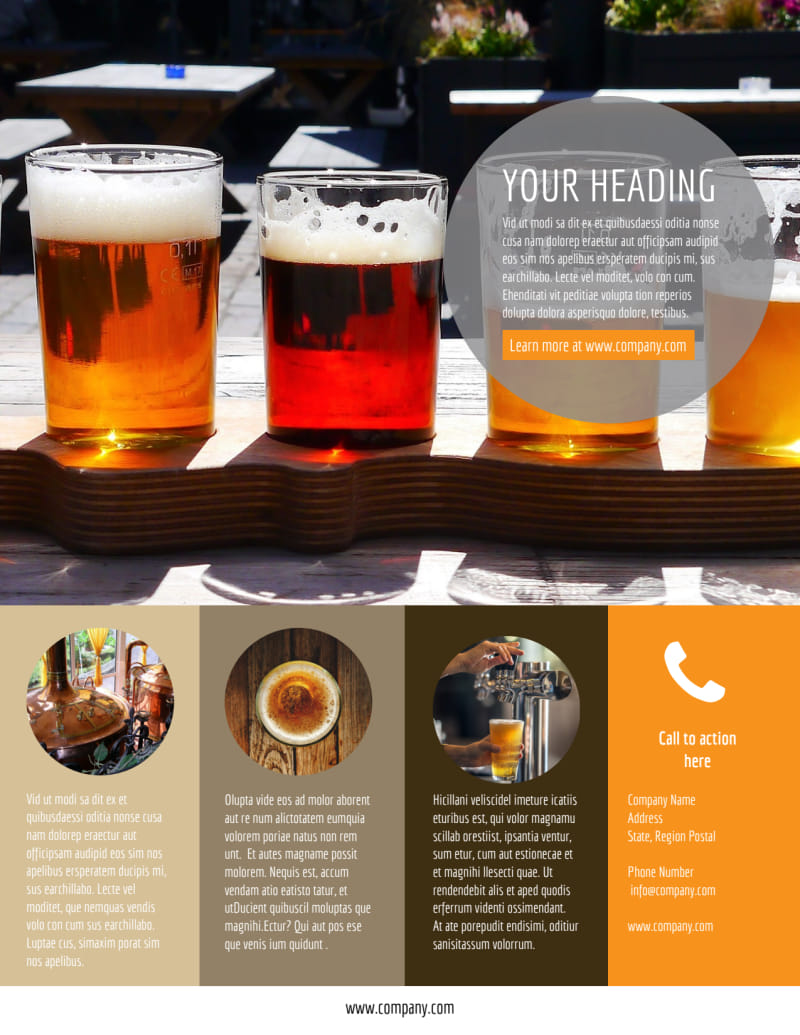 Downtown Brewery Flyer Template Preview 3