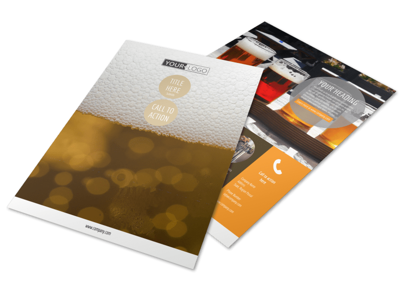Downtown Brewery Flyer Template Preview 1