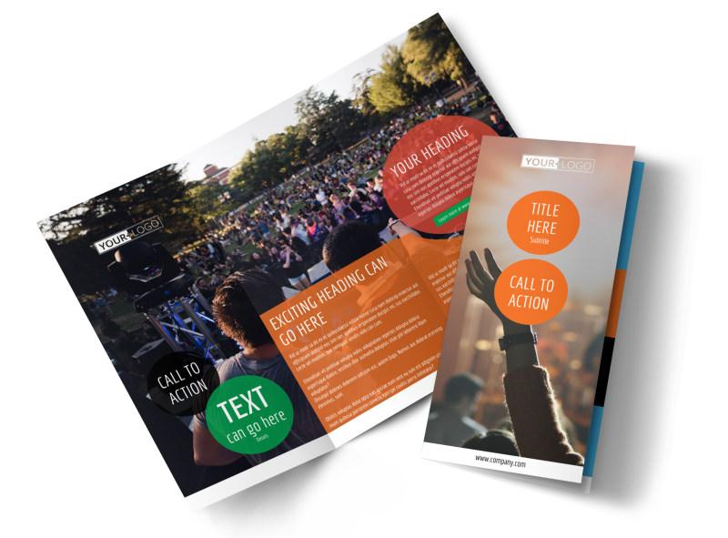Park Concert Tri-Fold Brochure Template