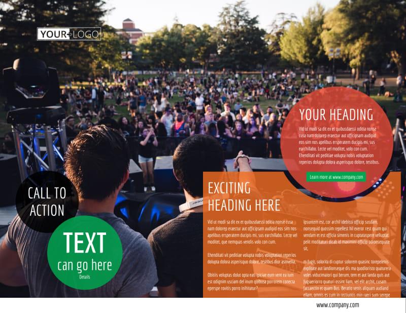 Park Concert Brochure Template Preview 3