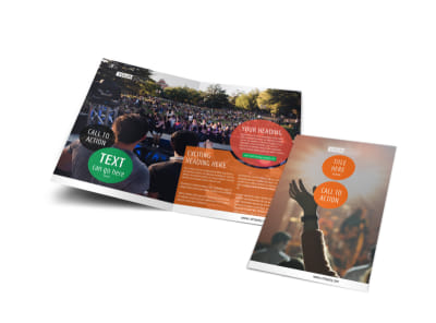 Park Concert Bi-Fold Brochure Template preview