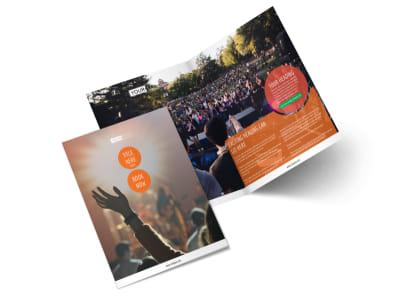 Park Concert Bi-Fold Brochure Template 2
