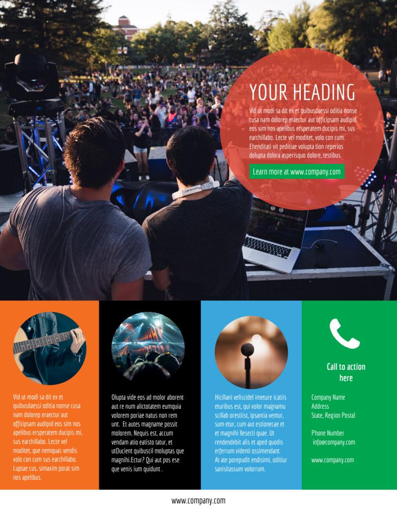 Park Concert Flyer Template Preview 3