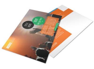 Park Concert Postcard Template preview