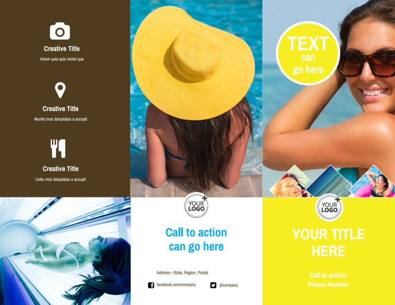 Tanning Package Brochure Template Preview 2