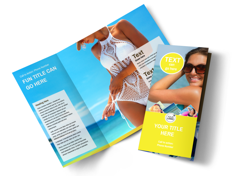 Tanning Package Brochure Template Preview 1