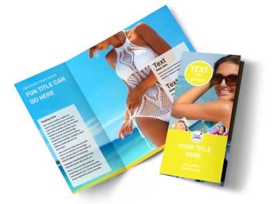 Tanning Package Tri-Fold Brochure Template preview