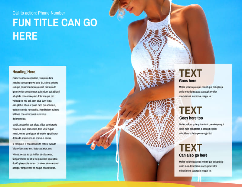 Tanning Package Brochure Template Preview 3