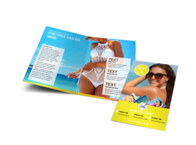 Tanning Package Bi-Fold Brochure Template preview