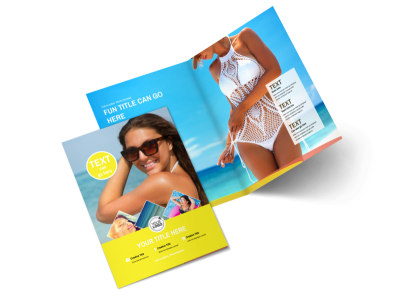 Tanning Package Bi-Fold Brochure Template 2 preview