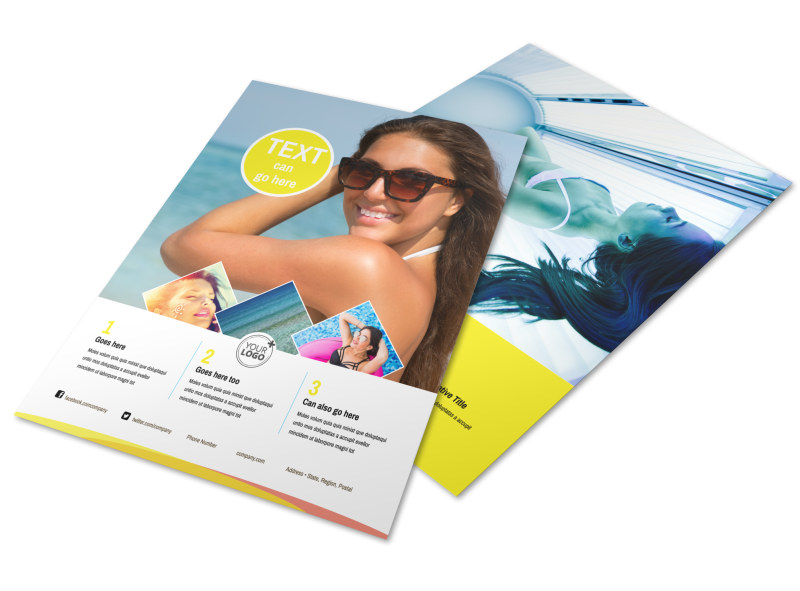 Tanning Package Flyer Template