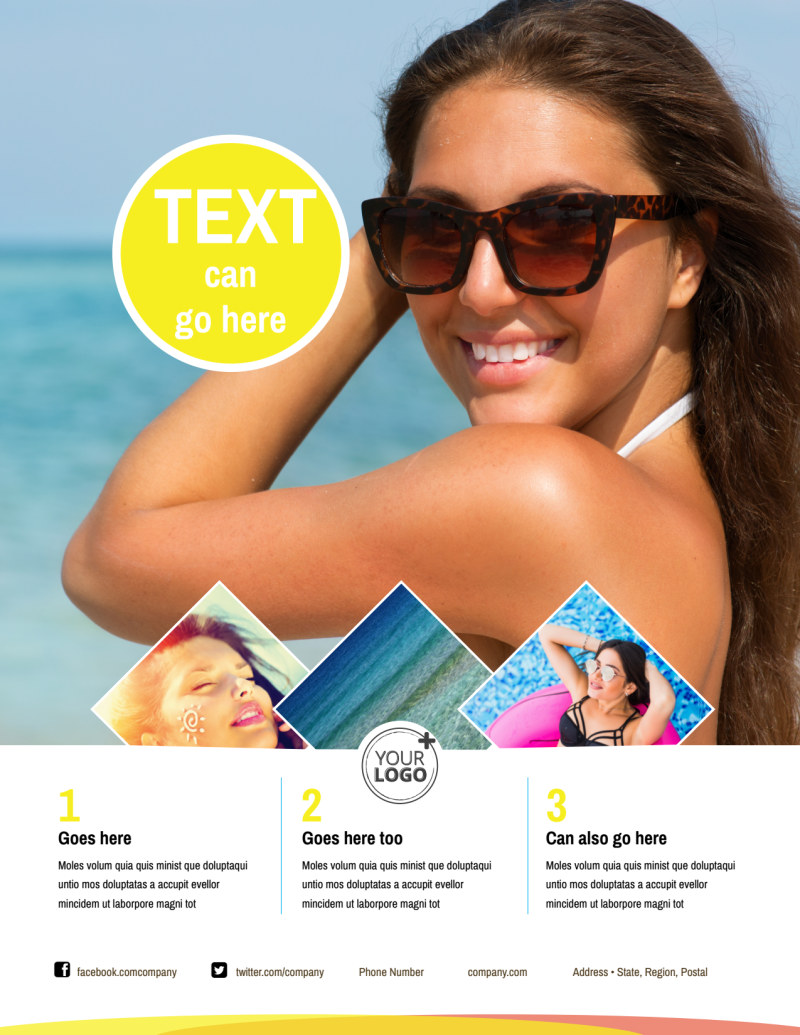 Tanning Package Flyer Template Preview 2