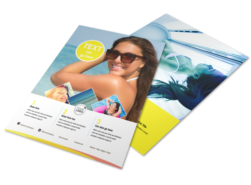 Tanning Package Flyer Template Preview 1
