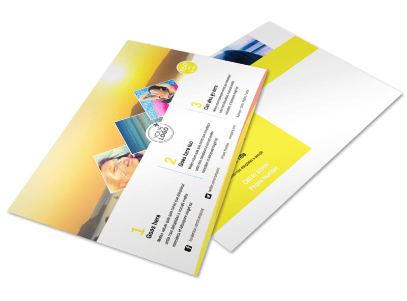 Tanning Package Postcard Template