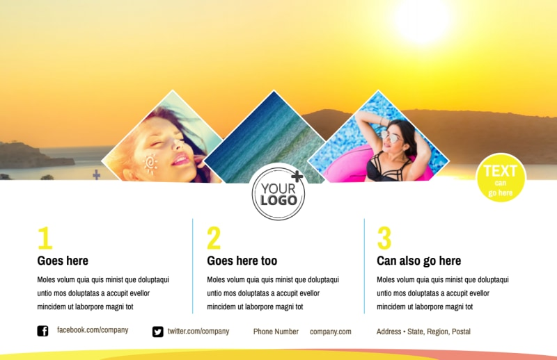 Tanning Package Postcard Template Preview 2