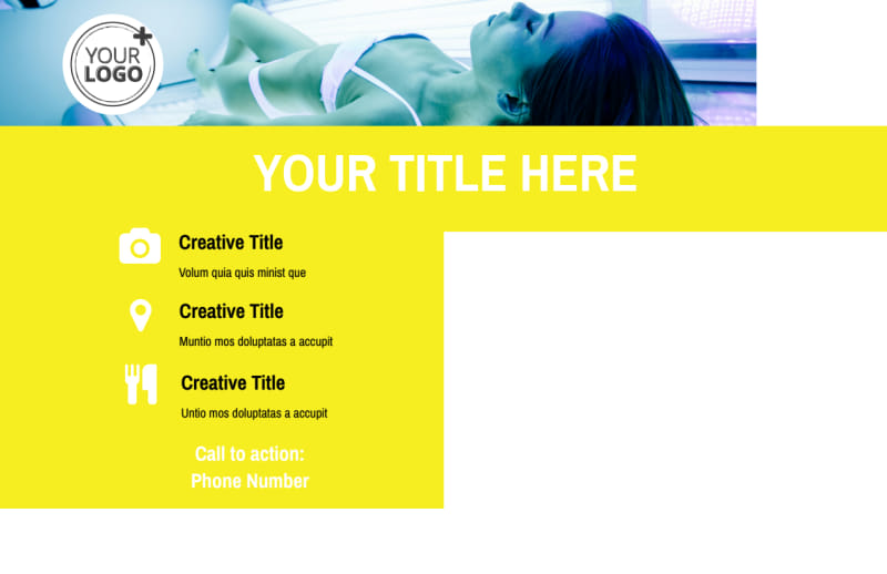Tanning Package Postcard Template Preview 3