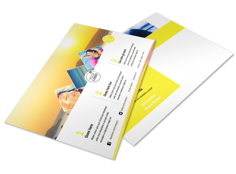Tanning Package Postcard Template Preview 1