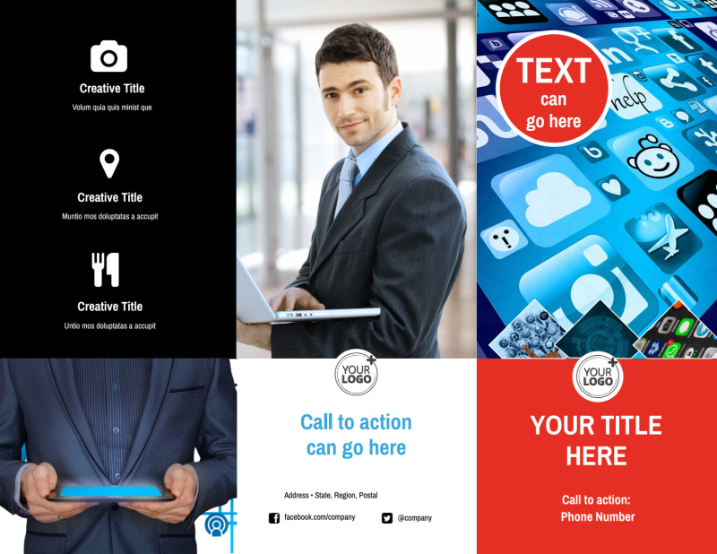Cable & Internet Provider Brochure Template Preview 2