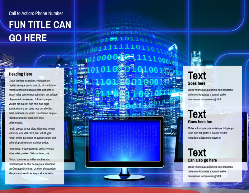 Cable & Internet Provider Brochure Template Preview 3