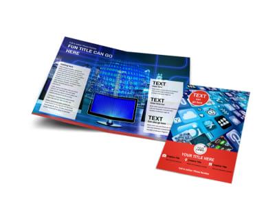 Internet Service Provider Bi-Fold Brochure Template preview