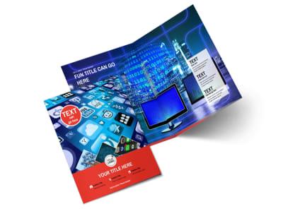 Internet Service Provider Bi-Fold Brochure Template 2 preview