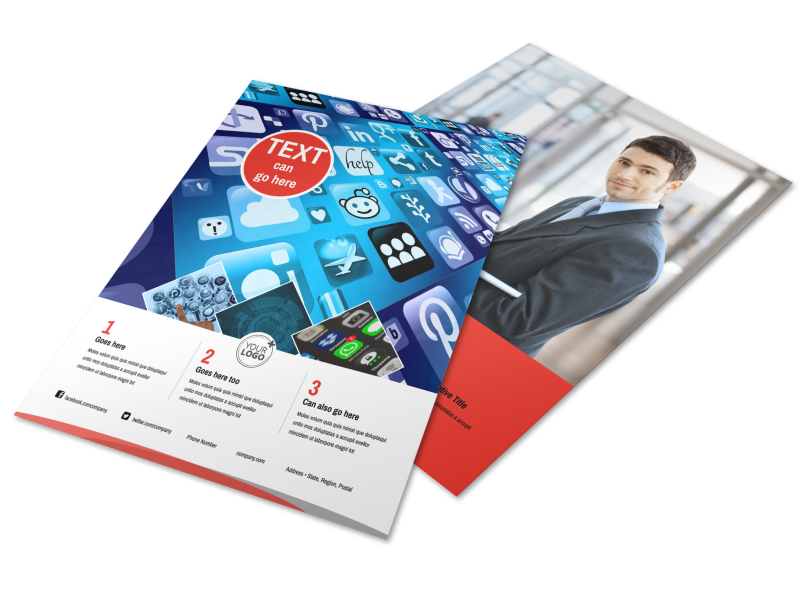 Cable & Internet Provider Flyer Template Preview 1
