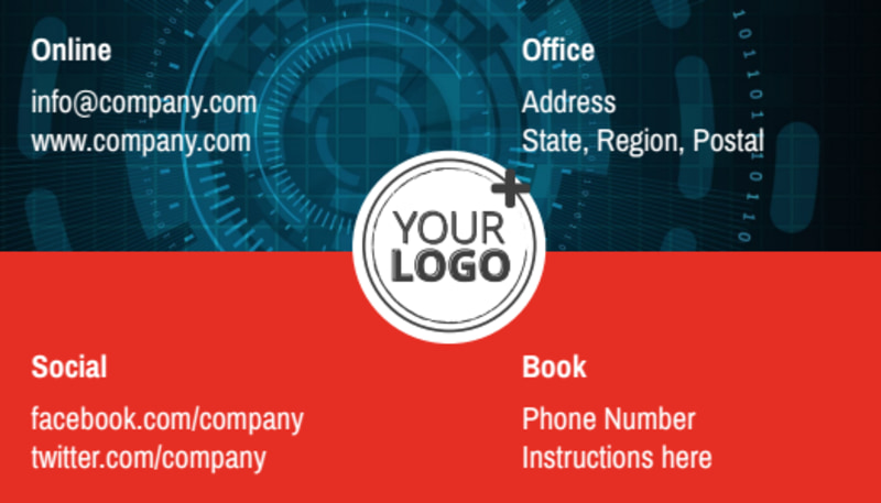 Cable & Internet Provider Business Card Template Preview 3