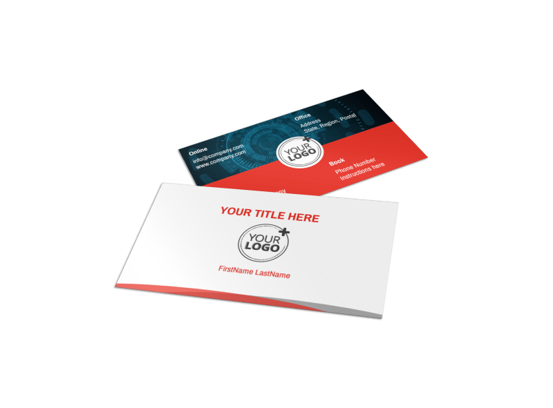 Cable Internet Provider Business Card Template