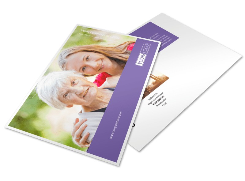 Health Insurance Company Postcard Template